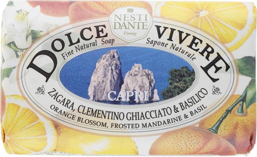 Naturseife Capri - Nesti Dante Energizing Soap Orange Blossom, Frosted Mandarine & Basil Dolce Vivere Collection