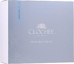 Düfte, Parfümerie und Kosmetik Gesichtspflegeset - Clochee Facial Skin Care Moisturising Set (Gesichtsserum 30ml + Augencreme 15ml + Duftkerze)