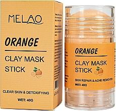 Düfte, Parfümerie und Kosmetik Reinigende und entgiftende Gesichtsmaske in Stick mit Orange - Melao Orange Clay Mask Stick