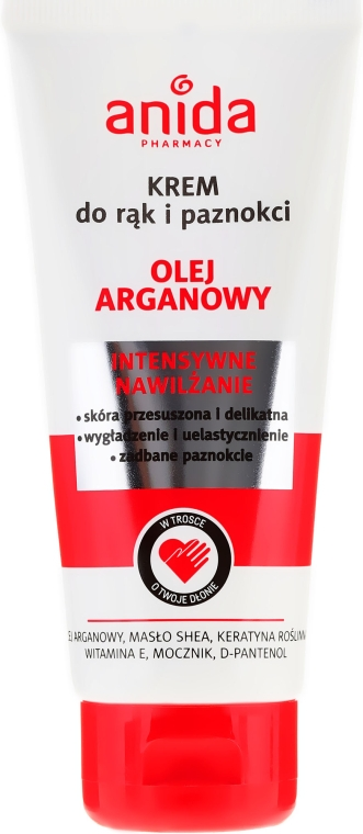 Hand- und Nagelcreme mit Arganöl - Anida Pharmacy Argan Oil Hand Cream