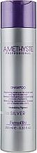Düfte, Parfümerie und Kosmetik Wiederbelebendes Shampoo gegen Gelbstich für graues oder hellblondes Haar - Farmavita Amethyste Silver Shampoo