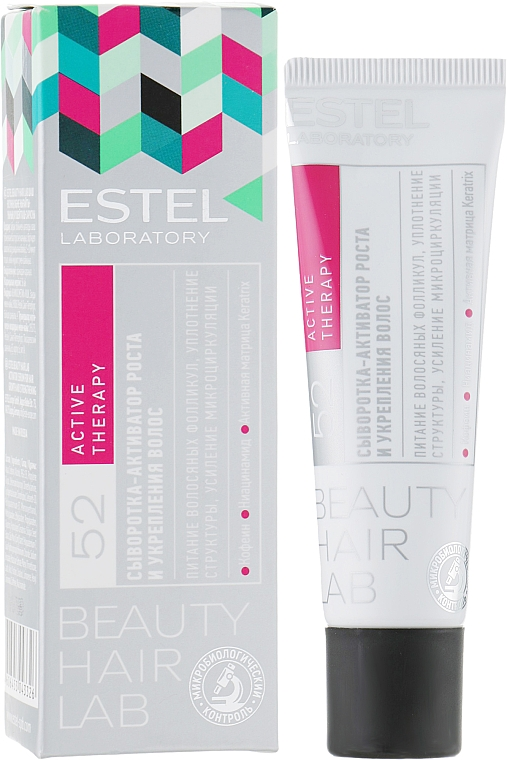 Stärkender und nährender Serum-Aktivator zum Haarwachstum mit Koffein und Niacinamid - Estel Beauty Hair Lab 52 Active Therapy