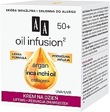 Anti-Falten Lifting Tagescreme mit Arganöl und Collagen - AA Oil Infusion Day Lifting Cream For Wrinkles 50+ — Bild N2