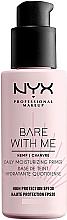 Düfte, Parfümerie und Kosmetik Feuchtigkeitsspendender Gesichtsprimer SPF 30 - NYX Professional Makeup Bare With Me Hemp Deily Moisturizing Primer