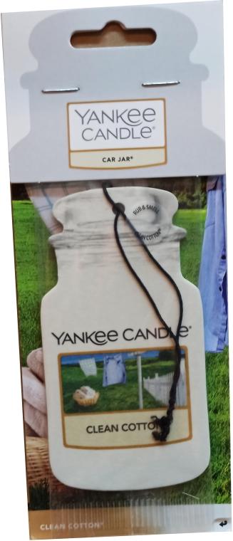 Auto-Lufterfrischer Clean Cotton - Yankee Candle Car Jar Clean Cotton