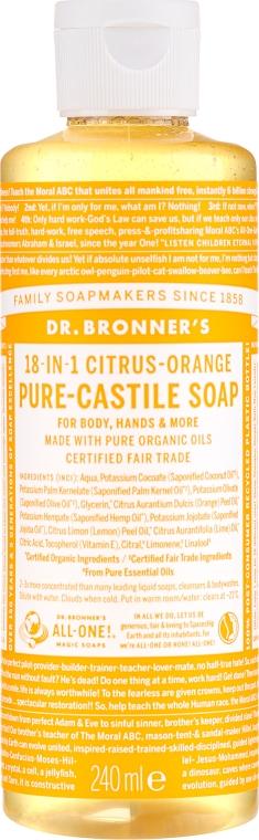 18in1 Flüssige Hand- und Körperseife mit Zitrus-Orange - Dr. Bronner's 18-in-1 Pure Castile Soap Citrus & Orange — Bild N3