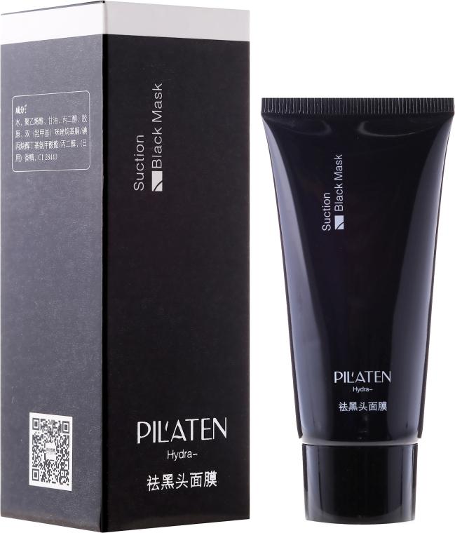 Schwarze Gesichtsmaske gegen Mitesser - Pilaten Hydra Suction Black Mask