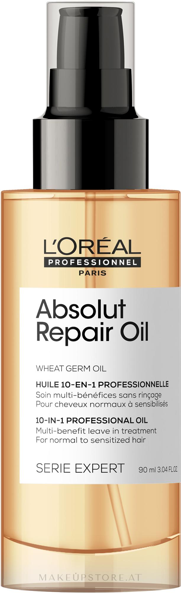 Pflegeserum für sehr geschädigtes Haar - L'Oreal Professionnel Absolut Repair Serum — Bild 90 ml NEW