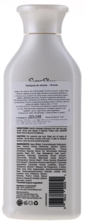Glanzgebendes Shampoo mit Aprikosenkernöl - Jason Natural Cosmetics Super Shine Apricot Shampoo — Bild N2