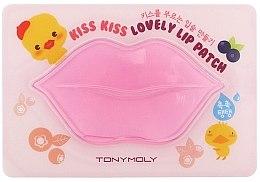 Düfte, Parfümerie und Kosmetik Feuchtigkeitsspendende und pflegende Hydrogel-Lippenmaske für trockene und rissige Lippen mit Kollagen und Hamamelisextrakt - Tony Moly Kiss Kiss Lovely Lip Patch