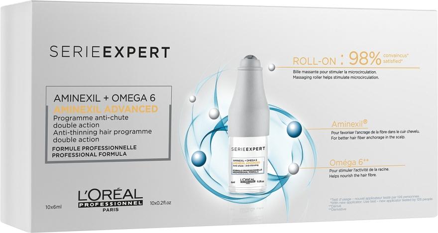 Therapie gegen Haarausfall mit Aminexil und Omega 6 - L'Oreal Professionnel Aminexil + Omega-6 10x6ml