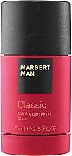 Düfte, Parfümerie und Kosmetik Marbert Man Classic - Antiperspirant Deodorant Stick 24h