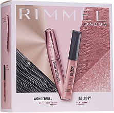 Düfte, Parfümerie und Kosmetik Make-up Set (Wimperntusche 11ml + Lipgloss 6.5ml) - Rimmel Wonderfull & Glossy