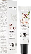 Düfte, Parfümerie und Kosmetik Feuchtigkeitsspendende Augencreme gegen Tränensäcke und Müdigkeit mit Preiselbeer- und Sanddornsamenöl - Oriflame Ecobeauty Eye Cream