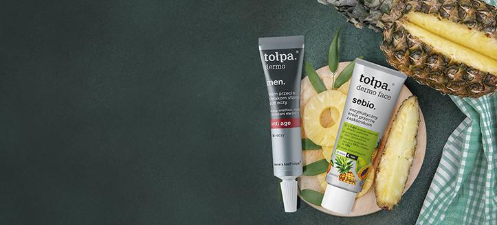 10% Rabatt auf Aktionsprodukte Tołpa für Gesichtspflege. Die Preise auf der Website sind inklusive Rabatt
