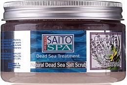 Düfte, Parfümerie und Kosmetik Salzpeeling für den Körper mit Salz aus dem Toten Meer und Patschuli-, Lavendel- und Vanilleduft - Saito Spa Aalt Body Scrub Lavenda&Vanilla