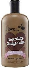 Düfte, Parfümerie und Kosmetik Duschcreme + Badeschaum Schokolade - I Love... Chocolate Fudge Cake Bubble Bath And Shower Creme