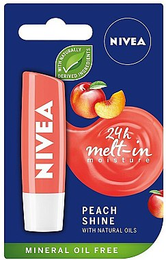 Feuchtigkeitsspendender Lippenbalsam Peach Shine - Nivea Lip Care Peach Shine Lip Balm
