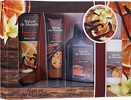 Düfte, Parfümerie und Kosmetik Körperpflegeset - Nature de Marseille Orange And Vanilla Cosmetics Set (Duschgel 150ml + Handcreme 60ml + Körperbalsam 100ml + Seife 95g)