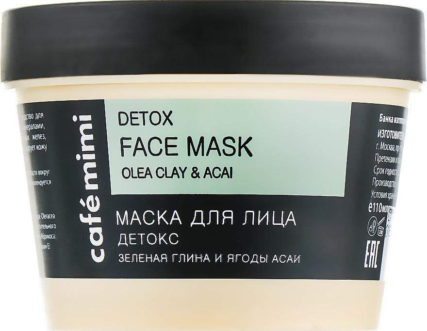 Detox-Gesichtsmaske mit grüner Tonerde und Acaibeeren - Cafe Mimi Face Mask