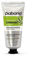 Düfte, Parfümerie und Kosmetik Pflegende Handcreme mit Hanfsamenöl für empfindliche Haut - Babaria Cannabis Hand Cream