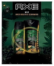 Düfte, Parfümerie und Kosmetik Körperpflegeset - Axe Wild Green Mojito & Cedarwood (Deospray 150ml + Duschgel 250ml)