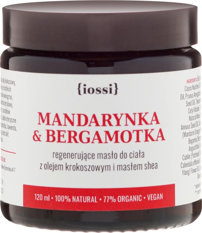 "Regenerierende Körperbutter mit Saflor und Sheabutter ""Mandarine und Bergamotte"" - Iossi Regenerating Body Butter"