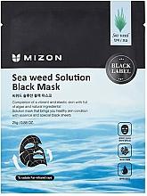 Düfte, Parfümerie und Kosmetik Feuchtigkeitsspendende und pflegende schwarze Tuchmaske mit Algenextrakt - Mizon Seaweed Solution Black Mask