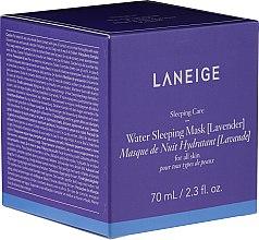 Düfte, Parfümerie und Kosmetik Feuchtigkeitsspendende Gesichtsmaske für die Nacht mit Lavendel - Laneige Water Sleeping Mask Lavender