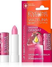 "Düfte, Parfümerie und Kosmetik Lippenbalsam ""Granatapfel"" - Eveline Cosmetics Lip Therapy Proffesional Vaseline Lip Balm"