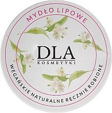 Düfte, Parfümerie und Kosmetik Natürliche Seife mit Linden, Sheabutter, süßes Mandelöl und Kamelinenöl in Dose - DLA Soap