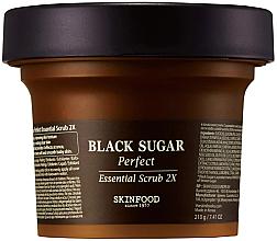 Düfte, Parfümerie und Kosmetik Gesichtspeeling mit schwarzem Zucker - SkinFood Black Sugar Perfect Essential Scrub 2X