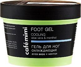 Düfte, Parfümerie und Kosmetik Kühlendes Fußgel mit Aloe Vera und Minze - Cafe Mimi Foot Gel Cooling Aloe Vera & Menthol