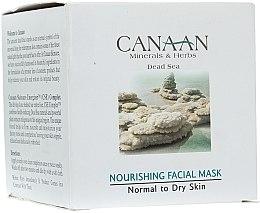 Düfte, Parfümerie und Kosmetik Nährende Gesichtsmaske mit Mineralien aus dem Toten Meer - Canaan Minerals & Herbs Nourishing Facial Mask Normal to Dry Skin