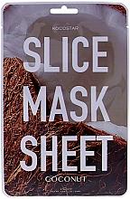 Düfte, Parfümerie und Kosmetik Regenerierende Tuchmaske Kokosnuss-Extrakt - Kocostar Slice Mask Sheet Coconut
