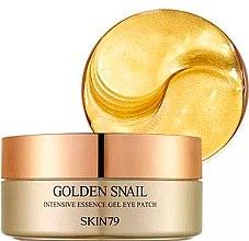 Düfte, Parfümerie und Kosmetik Intensiv regenerierende und feuchtigkeitsspendende Gel-Augenpatches mit Schneckenschleimfiltrat und Gold für mehr Hautelastizität - Skin79 Golden Snail Intensive Essence Gel Eye Patch