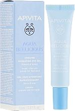 Düfte, Parfümerie und Kosmetik Feuchtigkeitsspendendes Augenkonturgel - Apivita Aqua Beelicious Cooling Hydrating Eye Gel