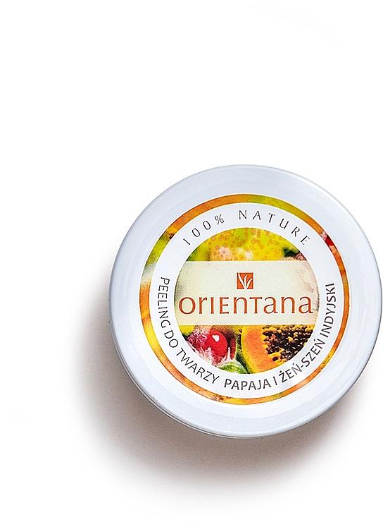 Creme-Peeling für das Gesicht mit Papaya und indischer Ginseng - Orientana Natural Cream Face Scrub Papaya