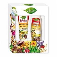 Düfte, Parfümerie und Kosmetik Körperpflegeset - Bione Cosmetics Argan Oil (Handbalsam 200ml + Körperlotion 500ml)