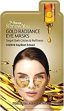 Düfte, Parfümerie und Kosmetik Augenpatches gegen dunkle Ringe und Schwellungen mit Coenzym Q10 und Sojabohnenextrakt - 7th Heaven Renew You Gold Radiance Eye Masks
