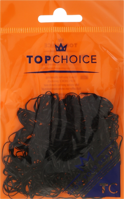 Haargummis 22722 schwarz - Top Choice Hairstyling Bands