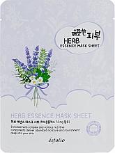 Düfte, Parfümerie und Kosmetik Pflegende Tuchmaske für das Gesicht mit Kräuterextrakt - Esfolio Pure Skin Essence Herb Mask Sheet