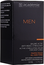 Düfte, Parfümerie und Kosmetik After Shave Balsam - Academie Men Active Stimulating Balm for Deep Lines