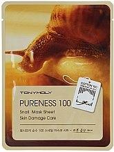 Düfte, Parfümerie und Kosmetik Tuchmaske mit Schneckenschleim - Tony Moly Pureness 100 Snail Mask Sheet