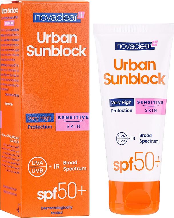 Sonnenschutzcreme für das Gesicht SPF 50+ - Novaclear Urban Sunblock Protective Cream Sensitive Skin SPF 50+