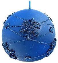Düfte, Parfümerie und Kosmetik Dekorative Kerze in Kugelform blau 8 cm - Artman Snowflake Application