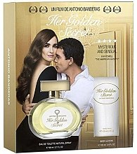 Düfte, Parfümerie und Kosmetik Antonio Banderas Her Golden Secret - Duftset (Eau de Toilette 80ml + Körperlotion 75ml)