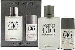 Düfte, Parfümerie und Kosmetik Giorgio Armani Acqua Di Gio Pour Homme - Duftset (Eau de Toilette 100ml+Deostick 75ml)