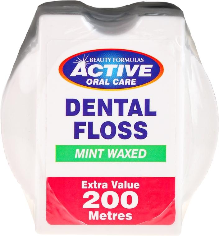 Gewachste Zahnseide mit Minzgeschmack 200 m - Beauty Formulas Active Oral Care Dental Floss Mint Waxed 200m