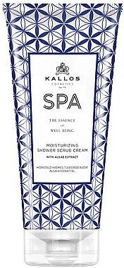 Feuchtigkeitsspendende Dusch- und Badecreme mit Algenextrakten - Kallos Cosmetics SPA Moisturizing Shower Scrub Cream With Argae Extract